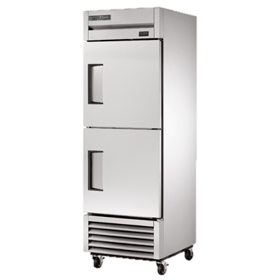 superior-equipment-supply - True Food Service Equipment - True Stainless Steel One-Section Two Solid Half Door Reach-In Freezer