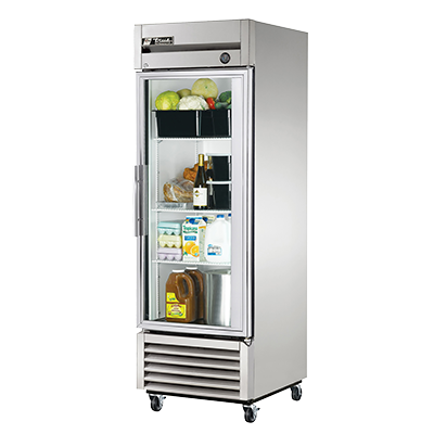 True One-Section One Glass Door Reach-In Refrigerator