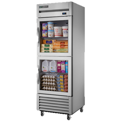 superior-equipment-supply - True Food Service Equipment - True One-Section Two Glass Half Door Reach-In Refrigerator