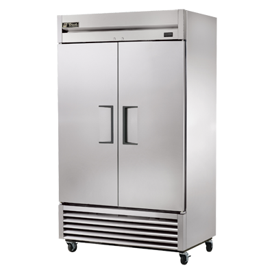 True Two-Section Two Stainless Steel Door Reach-In Refrigerator