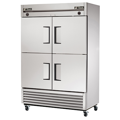 superior-equipment-supply - True Food Service Equipment - True Stainless Steel Two-Section Four Half Door Reach-In Refrigerator/Freezer