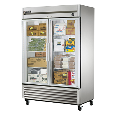 superior-equipment-supply - True Food Service Equipment - True Stainless Steel Two-Section Two Glass Door Reach-In Freezer
