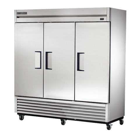 superior-equipment-supply - True Food Service Equipment - True Three-Section Three Stainless Steel Door Reach-In Refrigerator