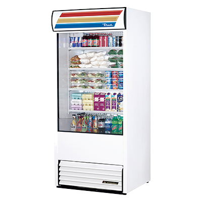 "superior-equipment-supply - True Food Service Equipment - True Vinyl Exterior Vertical Air Curtain Merchandiser 36""W"