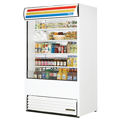 "superior-equipment-supply - True Food Service Equipment - True Vinyl Exterior Vertical Air Curtain Merchandiser 48""W"