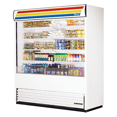 "superior-equipment-supply - True Food Service Equipment - True White Vinyl Exterior Vertical Air Curtain Merchandiser 72""W"