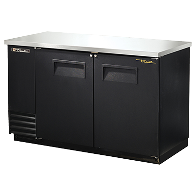 superior-equipment-supply - True Food Service Equipment - True Two-Section Two Door Black Vinyl Exterior Backbar Cooler