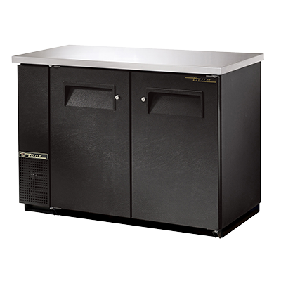"superior-equipment-supply - True Food Service Equipment - True Two-Section Two Door Galvanized interior Backbar Cooler 49""W"