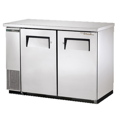 "superior-equipment-supply - True Food Service Equipment - True Two-Section Two Door Stainless Steel Exterior Backbar Cooler 49""W"