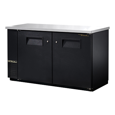 "superior-equipment-supply - True Food Service Equipment - True Two-Section Two Door Black Vinyl Exterior Backbar Cooler 61""W"