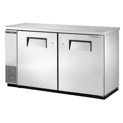 "superior-equipment-supply - True Food Service Equipment - True Two-Section Two Door Stainless Steel Exterior Backbar Cooler 61""W"