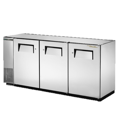"superior-equipment-supply - True Food Service Equipment - True Three-Section Three Door Stainless Steel Backbar Cooler 72""W"