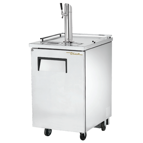 "superior-equipment-supply - True Food Service Equipment - True Stainless Steel Exterior (1) Tap Dispenser (1) Keg Capacity Draft Beer Cooler 23""W"