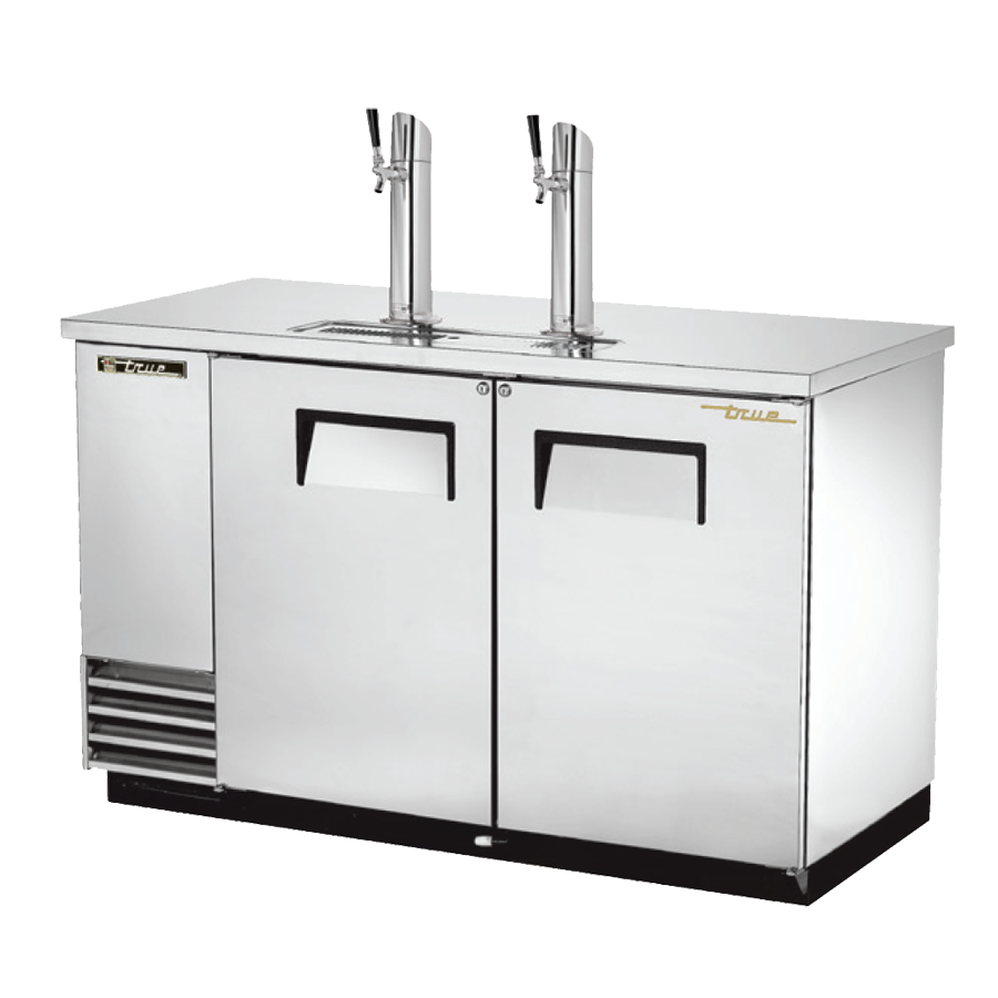 "superior-equipment-supply - True Food Service Equipment - True Two Door Stainless Steel Exterior Draft Beer Cooler 59""W"