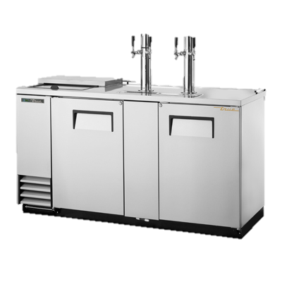 "superior-equipment-supply - True Food Service Equipment - True Two Door (3) Keg Stainless Steel Exterior Club Top Draft Beer Cooler 69""W"