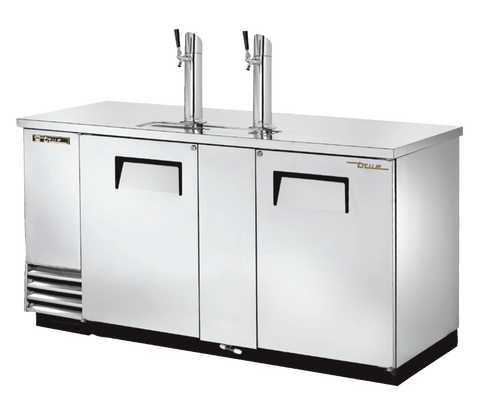 "superior-equipment-supply - True Food Service Equipment - True Two Door (3) Keg Stainless Steel Exterior Draft Beer Cooler 69""W"