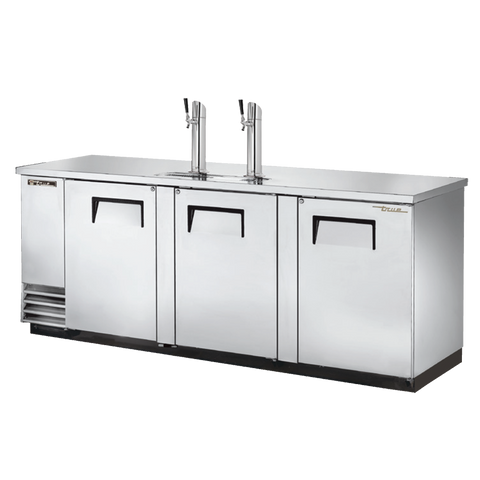 "superior-equipment-supply - True Food Service Equipment - True Three Door Stainless Steel Exterior Draft Beer Cooler 90"" W"