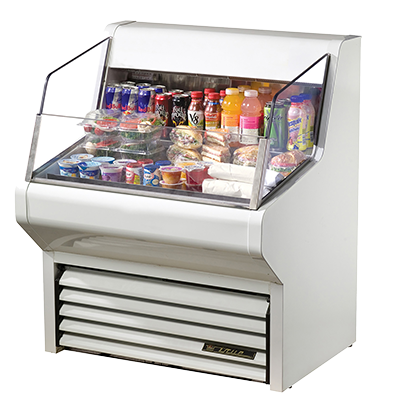 superior-equipment-supply - True Food Service Equipment - True Self-Contained Refrigeration Horizontal Air Curtain Merchandiser