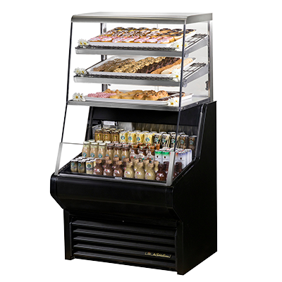 superior-equipment-supply - True Food Service Equipment - True Self-Contained Horizontal Air Curtain Dry Goods Merchandiser