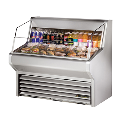 "superior-equipment-supply - True Food Service Equipment - True Stainless Steel Self-Contained Horizontal Air Curtain Merchandiser 48""W"