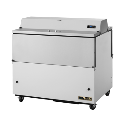 "superior-equipment-supply - True Food Service Equipment - True Dual Sided Stainless Steel Interior White Vinyl Exterior Milk Cooler 49""W"