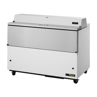 "superior-equipment-supply - True Food Service Equipment - True White Vinyl Exterior Milk Cooler 58""W"