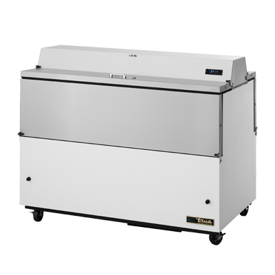 "superior-equipment-supply - True Food Service Equipment - True White Vinyl Exterior Milk Cooler With Dual Sided Stainless Steel Lid 58""W"