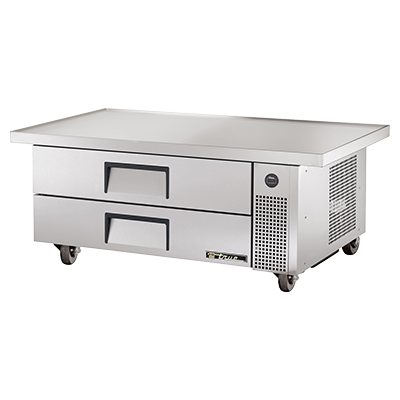 "superior-equipment-supply - True Food Service Equipment - True Stainless Steel Two Drawer 60"" Wide  Refrigerated Chef Base"