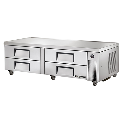 "superior-equipment-supply - True Food Service Equipment - True Stainless Steel Four Drawer 72""W Refrigerated Chef Base"