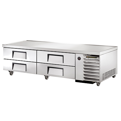 "True Stainless Steel Four Drawer 79""Wide Refrigerated Chef Base"