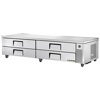 "superior-equipment-supply - True Food Service Equipment - True Stainless Steel Four Drawer 96"" Wide Refrigerated Chef Base"