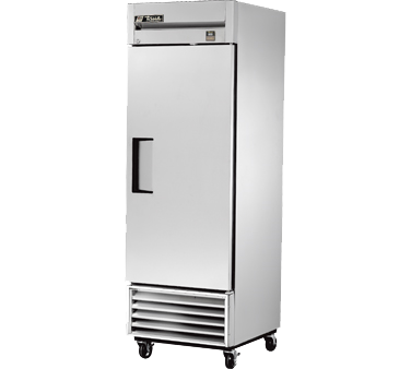 True Stainless Steel One-Section One Solid Door Reach-In Freezer