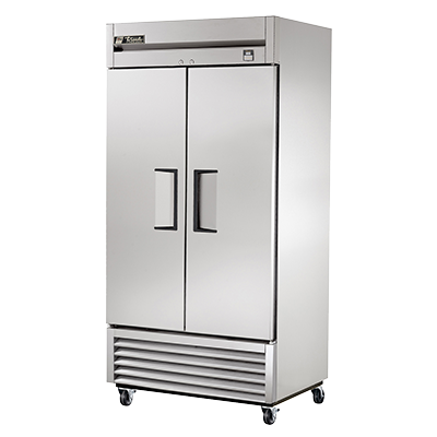 superior-equipment-supply - True Food Service Equipment - True Stainless Steel Two-Section Two Solid Door Reach-In Freezer