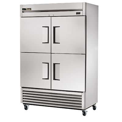 superior-equipment-supply - True Food Service Equipment - True Stainless Steel Two-Section Four Solid Half Door Reach-In Freezer