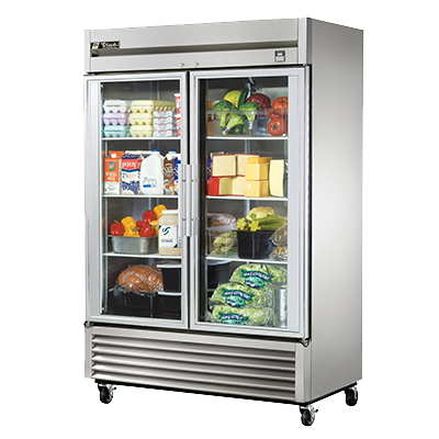 superior-equipment-supply - True Food Service Equipment - True Stainless Steel Two-Section Two Glass Door Reach-In Refrigerator