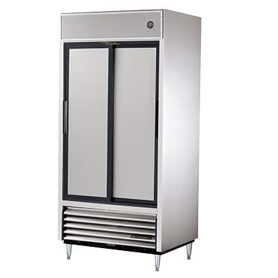 superior-equipment-supply - True Food Service Equipment - True Two-Section Two Stainless Steel Sliding Door Reach-In Refrigerator