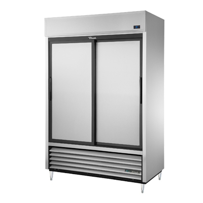 superior-equipment-supply - True Food Service Equipment - True Two Section Two Stainless Steel Sliding Door Reach-In Refrigerator