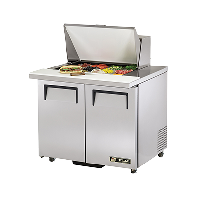 "superior-equipment-supply - True Food Service Equipment - True Stainless Steel Two Section 36"" Wide ADA Sandwich/Salad Unit"