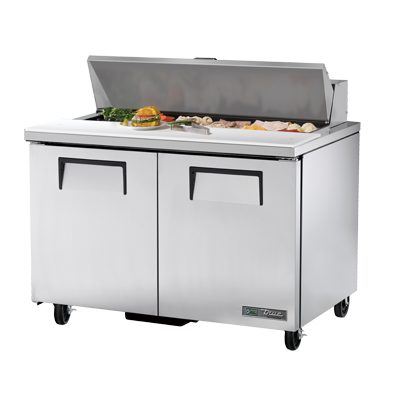 "superior-equipment-supply - True Food Service Equipment - True Stainless Steel Twelve 4"" Deep Poly Pan Capacity Sandwich/Salad Unit"