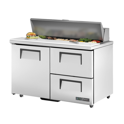 "superior-equipment-supply - True Food Service Equipment - True Stainless Steel Two Section Two Drawer 48"" Wide ADA Sandwich/Salad Unit"