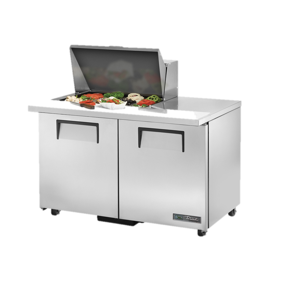 "superior-equipment-supply - True Food Service Equipment - True Stainless Steel Two Section 48"" Wide ADA Sandwich/Salad Unit"