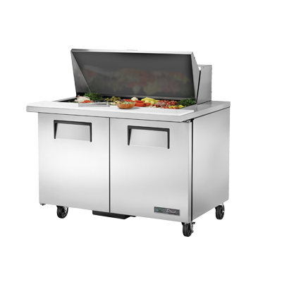 "superior-equipment-supply - True Food Service Equipment - True Stainless Steel Eighteen 4"" Deep Poly Pan Capacity Sandwich/Salad Unit"