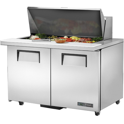 "superior-equipment-supply - True Food Service Equipment - True Stainless Steel Eighteen 4"" Deep Poly Pan Capacity ADA Sandwich/Salad Unit"