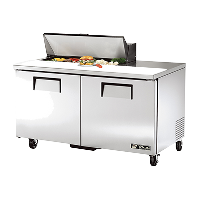 "superior-equipment-supply - True Food Service Equipment - True Stainless Steel Two Section 60"" Wide Sandwich/Salad Unit"