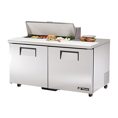 "superior-equipment-supply - True Food Service Equipment - True Stainless Steel Two Section 60"" Wide ADA Sandwich/Salad Unit"