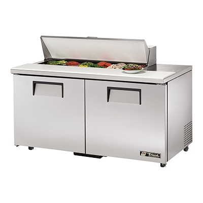 "superior-equipment-supply - True Food Service Equipment - True Stainless Steel Twelve 4"" Poly Pan Capacity 60"" Wide ADA Sandwich/Salad Unit"