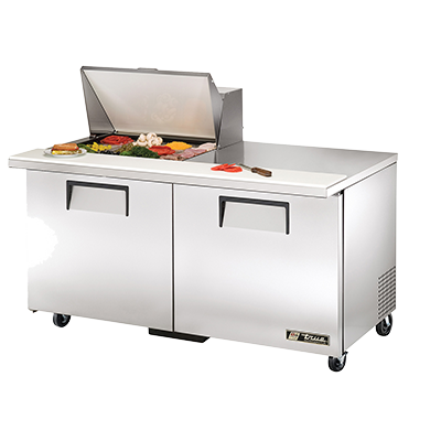 "superior-equipment-supply - True Food Service Equipment - True Stainless Steel Two Section 60"" Wide Mega Top Sandwich/Salad Unit"