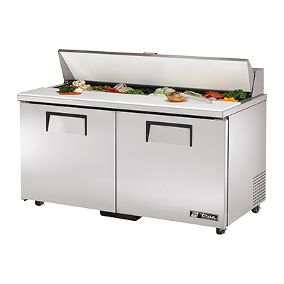"superior-equipment-supply - True Food Service Equipment - True Stainless Steel Sixteen 4"" Poly Pan Capacity 60"" Wide ADA Sandwich/Salad Unit"