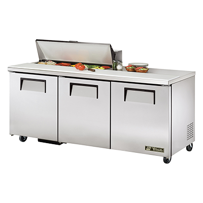 "superior-equipment-supply - True Food Service Equipment - True Stainless Steel Three Section 72"" Wide Sandwich/Salad Unit"