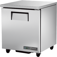 "superior-equipment-supply - True Food Service Equipment - True Stainless Steel One Section 27"" Wide Undercounter Refrigerator"